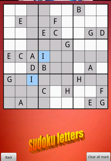 sudoku letters free screenshot