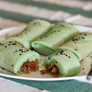 Coconut Pandan Crepes (Kuih Dadar).