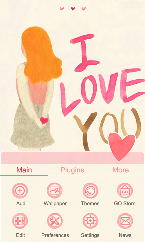 Kiss Me - GO Launcher Theme - screenshot