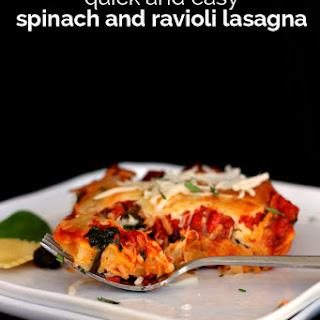 Ravioli and Spinach Lasagna.