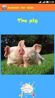 Screenshot of Animals for Kids