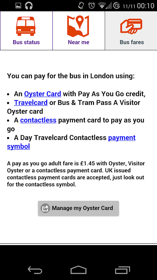 Bus Times London- screenshot
