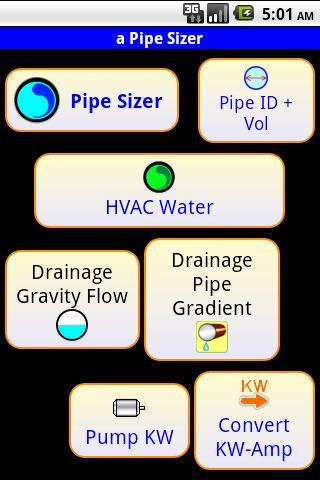 Water Pipe sizing - Pipe Sizer