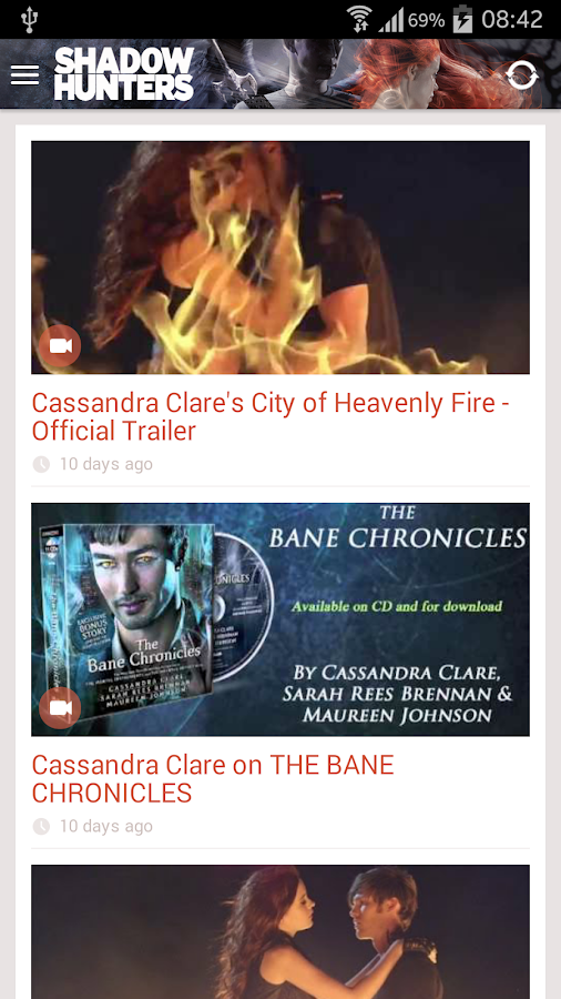 Cassandra Clare: Shadowhunters- screenshot
