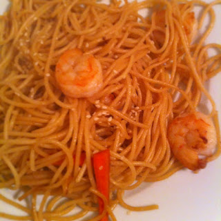 Noodles with Happy Shrimp