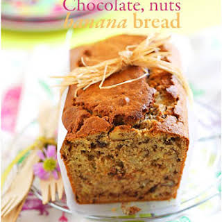 Nuts, Chocolate and Banana Bread.