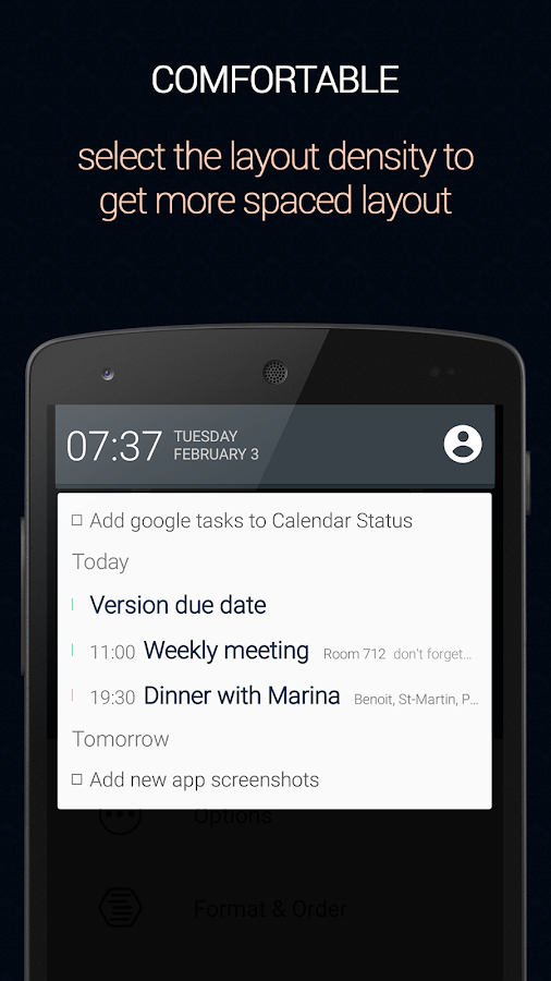 Calendar Status - screenshot