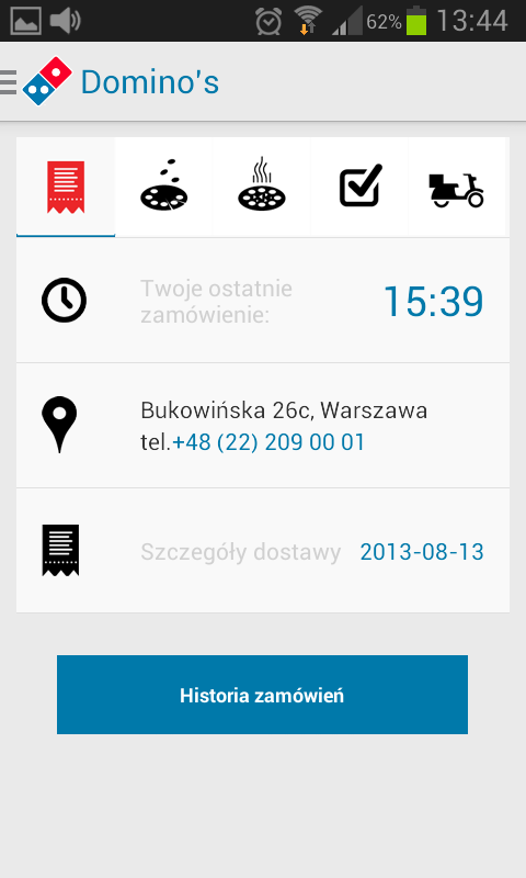 Dominos Pizza PL- screenshot