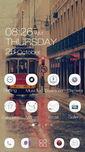 Love Is White GOLauncher Theme