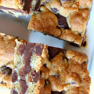 Gooey Chocolate Chip Sandwich Bars.