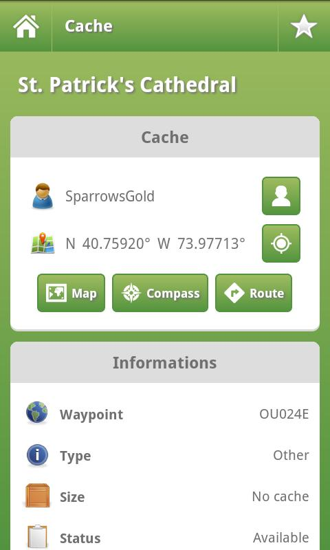 OpenCaching for Android - screenshot
