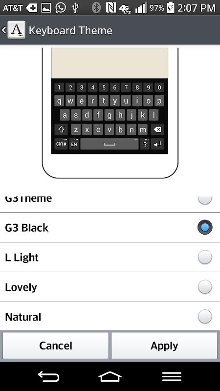 G3 Dark Keyboard LG THEME APK 2 0 13 Download - Free Personalization