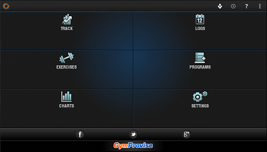 Gymprovise Workout Tracker/Log- screenshot thumbnail