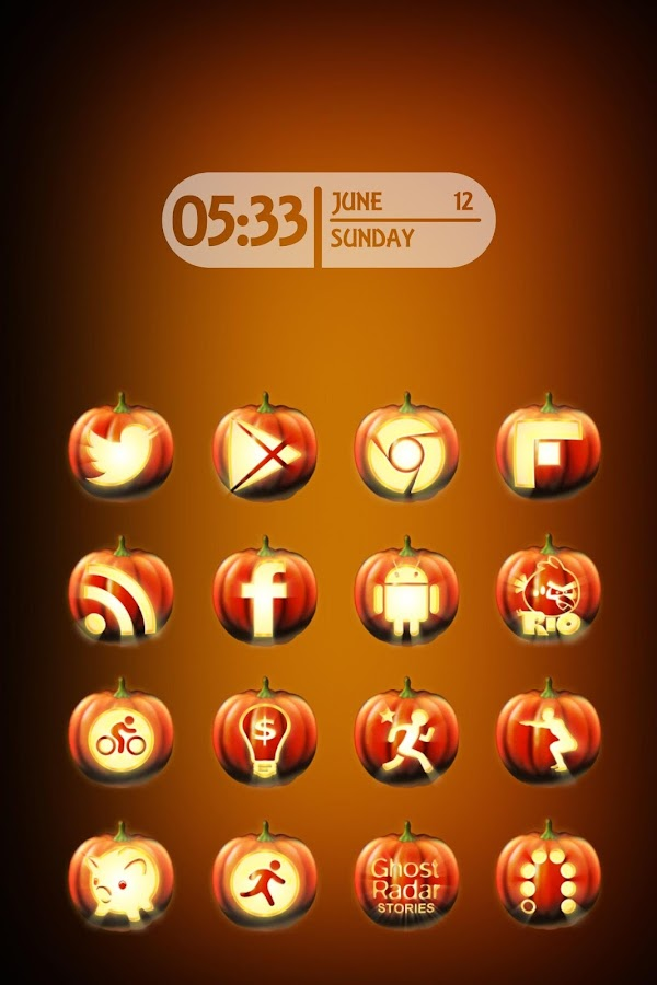Halloween Icon Pack Theme - screenshot