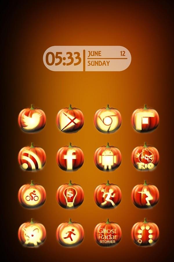 Halloween Icon Pack Theme - screenshot