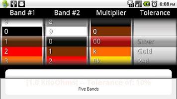 Screenshot of Resistor Color Codes