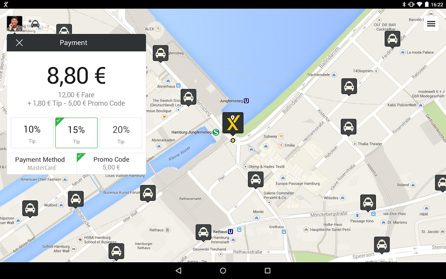 mytaxi – The Taxi App - screenshot