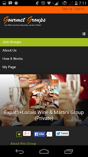 Gourmet Groups