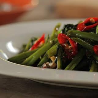 Stir-fried 'Pak Boong' (Kangkong).