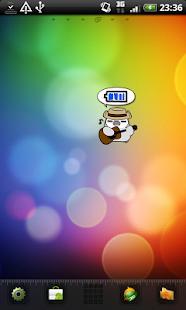 ぺそぎん電池ジョニー 無料トーク系バッテリー残量アプリ - screenshot thumbnail