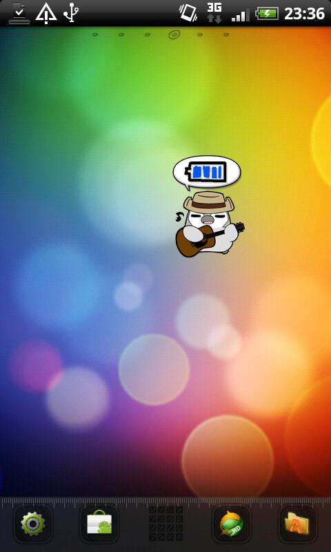 ぺそぎん電池ジョニー 無料トーク系バッテリー残量アプリ- screenshot
