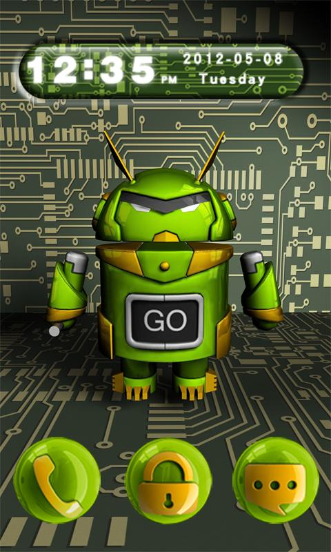3D Evo GO Locker Theme - screenshot