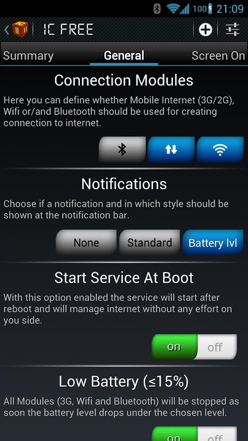 IC Battery Saver - screenshot