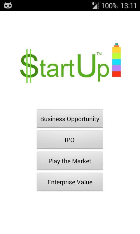 StartUp - screenshot