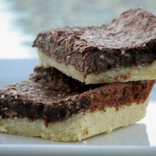 Gooey Brownies with Shortbread Crust