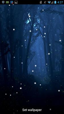 Fireflies Live Wallpaper - screenshot