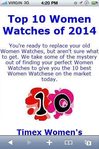 Women Watche Reviews