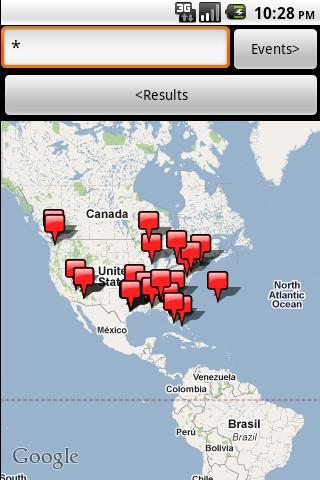 Race Search Map- screenshot