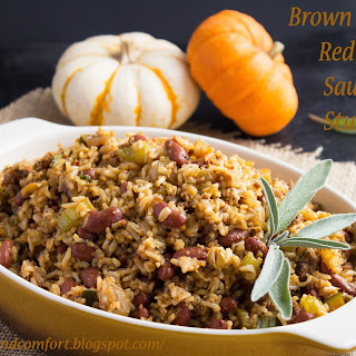 Brown Rice and Red Bean Sausage Stuffing.