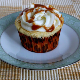 Vanilla Cupcake with Salted Caramel Filling and Vanilla Butter Cream with Salted Caramel Drizzle.