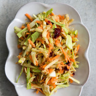 Broccoli Slaw with Cranberry Orange Dressing.