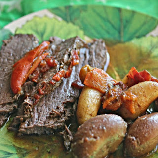 Tangy Slow-Cooker Brisket With Potatoes and Sweet Peppers
