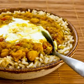 Spicy Red Lentil and Chickpea Stew (Paula's Moroccan Lentil Stew).