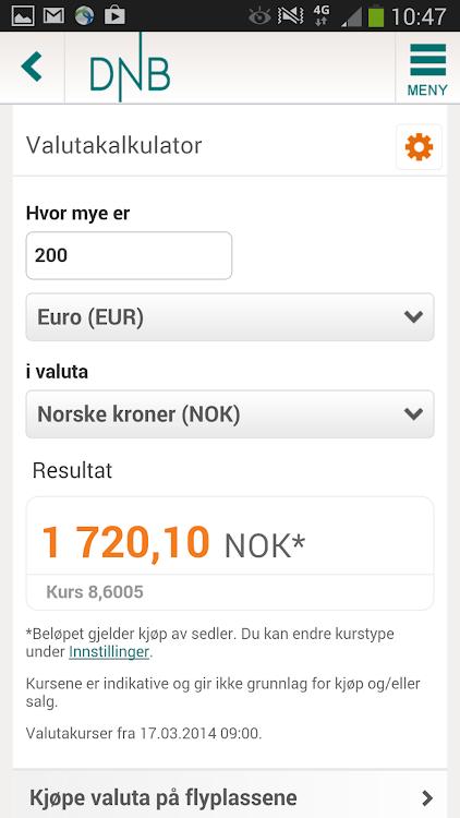 dnb valutakurs