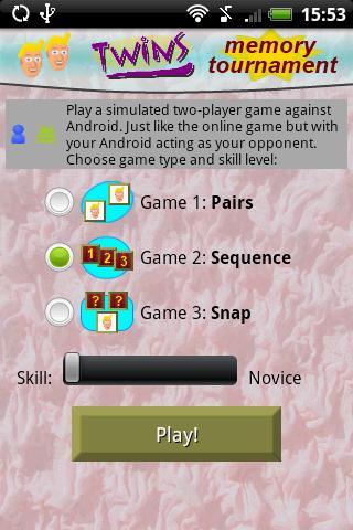 Twins Memory Tournament- screenshot