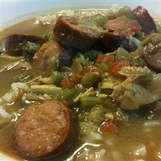 'Momma Made Em' Chicken and Sausage Gumbo.