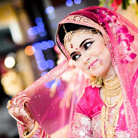 Shy smile of beautiful Bangladeshi bride by Sharier Shuvho - Wedding Bride ( beautiful brides, wedding photography, wedding, smile, bride )