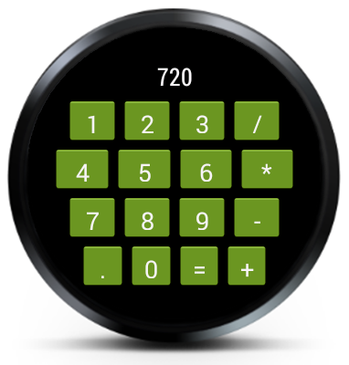 Calculator for AndroidWear