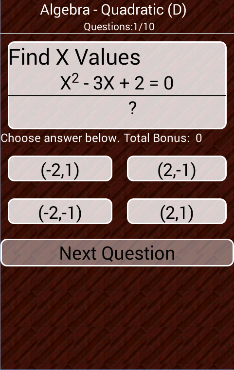 Math Pack Flash Cards- screenshot