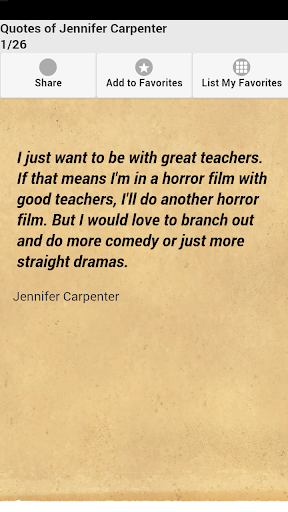 Quotes of Jennifer Carpenter