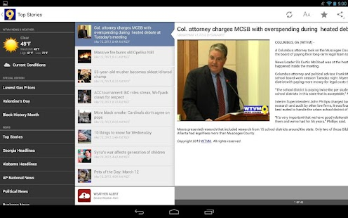 WTVM News 9 - screenshot thumbnail