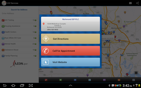 HIV Testing & Services Locator- screenshot thumbnail