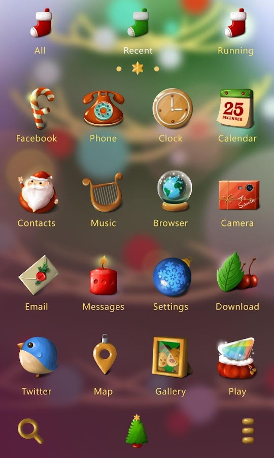 Silent night GO Launcher Theme - screenshot