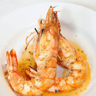 Shrimp Flambeed with Pastis.