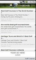 Screenshot of Golf Clubs