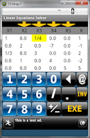 Screenshot of Linear Equations Solver